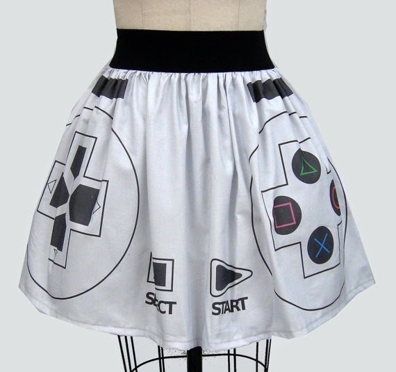 Original Playstation Controller Full Skirt from Go Follow Rabbits on Etsy