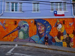 Street art in Valparaiso.