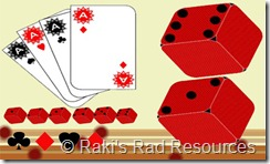 Dice and Play Cards Clip Art
