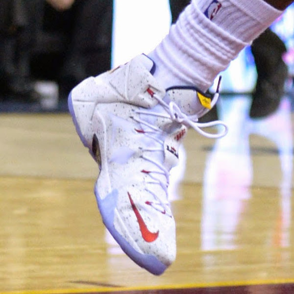 LeBron Breaks Out New Nike LeBron XII 8220Cavs8221 PE 28