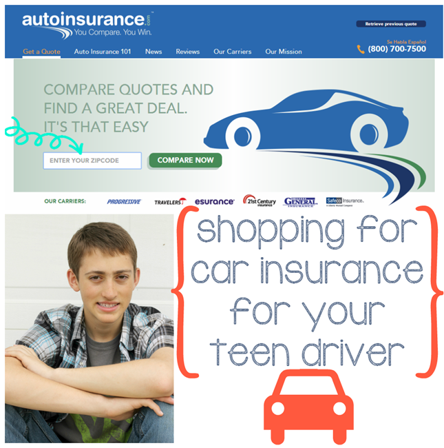 Shopping for Car Insurance for Your Teen Driver at GingerSnapCrafts.com#Compare2Win #CollectiveBias #shop