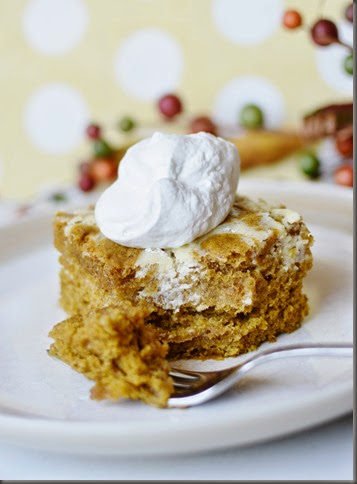 or with a dollop of fresh whipped cream Pumpkin Roll Bars