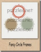 fancy circle frame-200