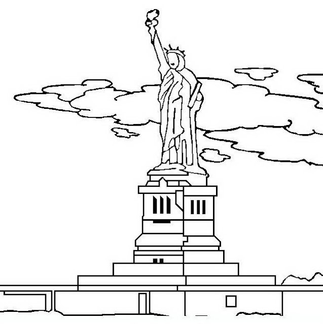 Statue Of Liberty Coloring Page Statue Of Liberty Coloring Page
