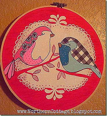 hoop art - birds