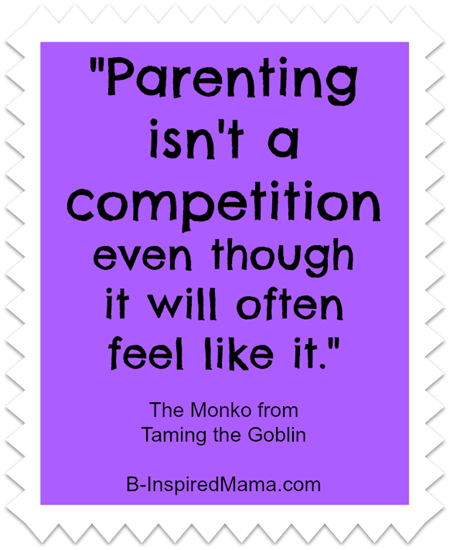 parenting isn't a competition