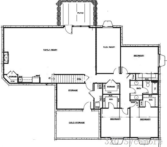 320 sycamore floor plan basement