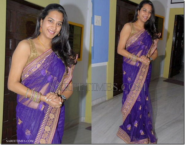 Surekha_Vani_Blue_Saree