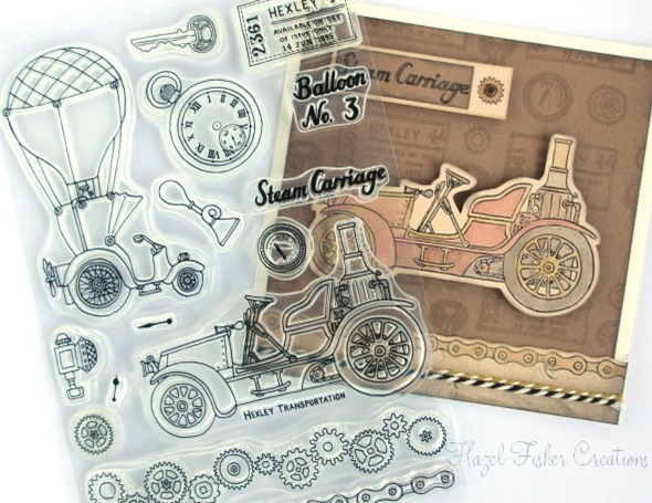 Steampunk Transport stamps 2014Jan16
