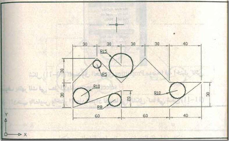 شكل الرسم بعد التغير في شكل الأبعاد 180_1