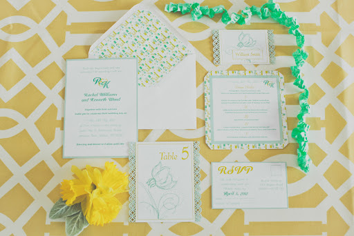 Stationery incorporating both colors and a variety of designs and details feels delightfully retro.