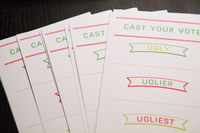 Ugly Sweater Party Voting Printable