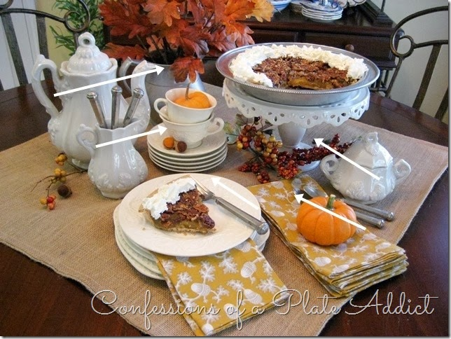 CONFESSIONS OF A PLATE ADDICT Creating a Fall Dessert Table with Arrows
