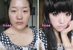 chinese girls makeup before and after  (10)