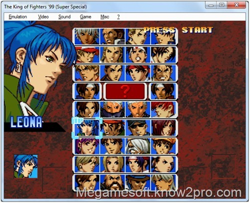 Free Download The King of Fighters 99 PC Games (NEO-GEO + EMULATOR)