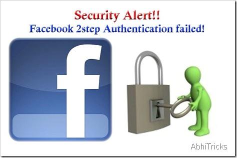 Facebook Security Alert