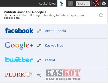 Menghubungkan Google  Plus ke Faceboo dan Twitter