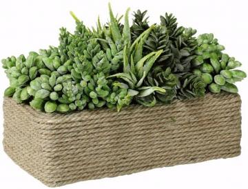 Bring rope into the garden or use it as a centerpiece with this rectangular planter. (homedecorators.com)