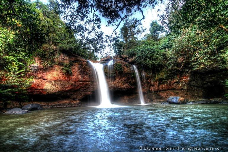 Haeo Suwat  waterfall Khao Yai National Park Thailand