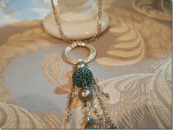 BMB Turq and Silver Pendant