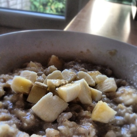 Day #250 of #Project366 - banana porridge in the morning light