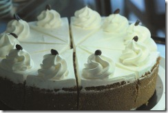 coffee&cream cheese cake