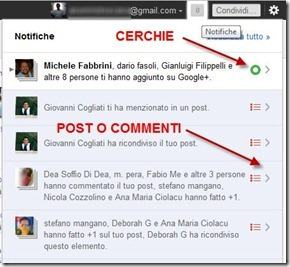 notifiche di google plus