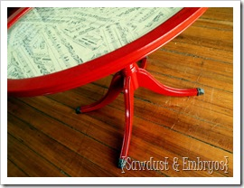 Easy Decoupage Tutorial - How to decoupage music pages onto a piece of furniture
