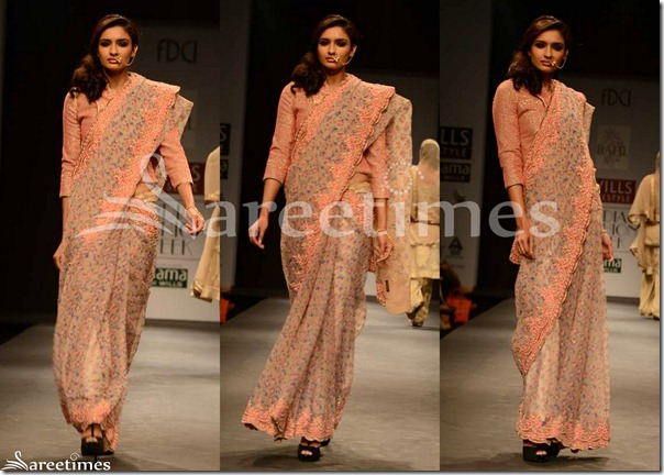 Vineet_Bahl_Peach_Embroidery_Saree
