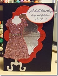 Red Sparkle Dress Card