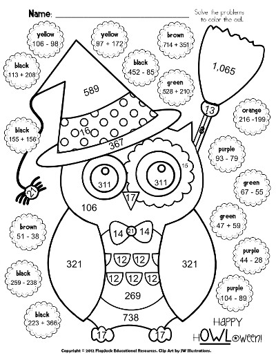 Printables Fun Math Worksheets For 5th Grade 5th grade halloween coloring pages by john math fun multiplication worksheets 4
