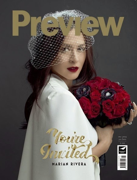 Marian Rivera for Preview Dec 2014-Jan 2015