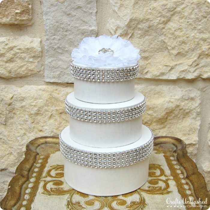 DIY Wedding Cake Boxes by Crafts Unleashed