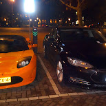 charging Tesla cars in Amsterdam, Noord Holland, Netherlands