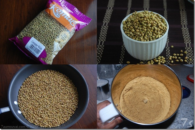 Coriander powder process