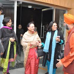 Greeting Mrs Kushal Singh and Punita Sngh