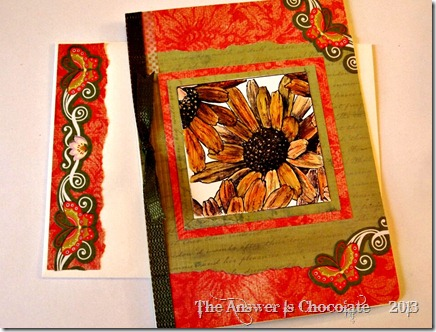 Sunflower and Butterfly Card and Envelope