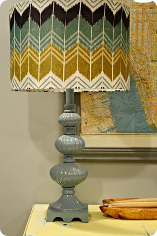 vintage lamp blue