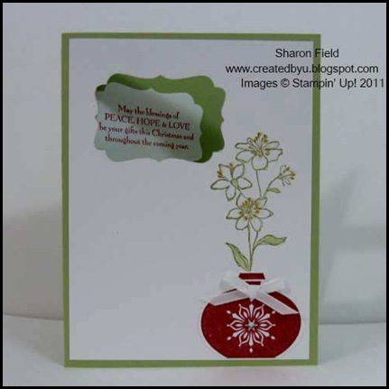 Simply_Soft, Gifts_Of_CHristmas, christmas_Cards, Delightful_Decorations, Designer_label_punch, Florida_tax_Holiday, Markers, Seniors, CAS, Sharon_field, Createdbyu_Blogspot