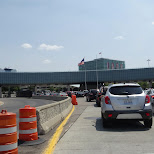 USA border control at Rainbow Bridge in North Tonawanda, New York, United States