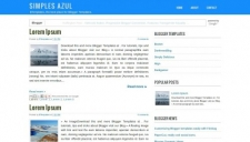 Simples azul blogger template 225x128