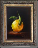 Lemon with leaves Framed