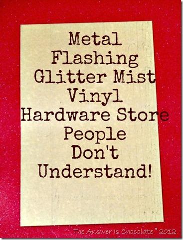 Metal Flashing and Vinyl