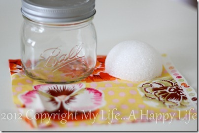 No Sew Pin Cushion - Mason Jar Pin Cushion - My Life...A Happy Life (1 of 7)