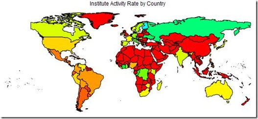 Institute Activity World Map