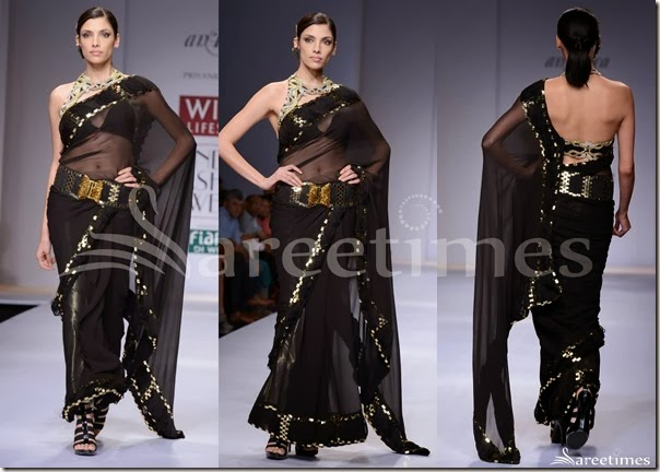 Priyanka_Kakkar_Black_Saree