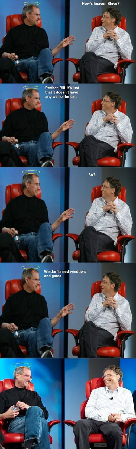Steve Jobs & Bill Gates Discuss Heaven