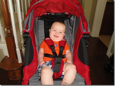 2.  First time in big boy stroller