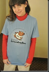 Cheryl poses with her new shirt