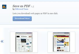 บันทึกหน้าเวบเป็น pdf